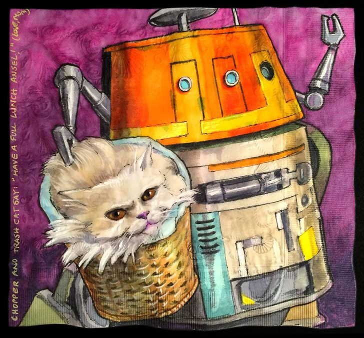 Cats-and-Robot-Drawn-on-Kids-Lunchbox-Napkins-11__880