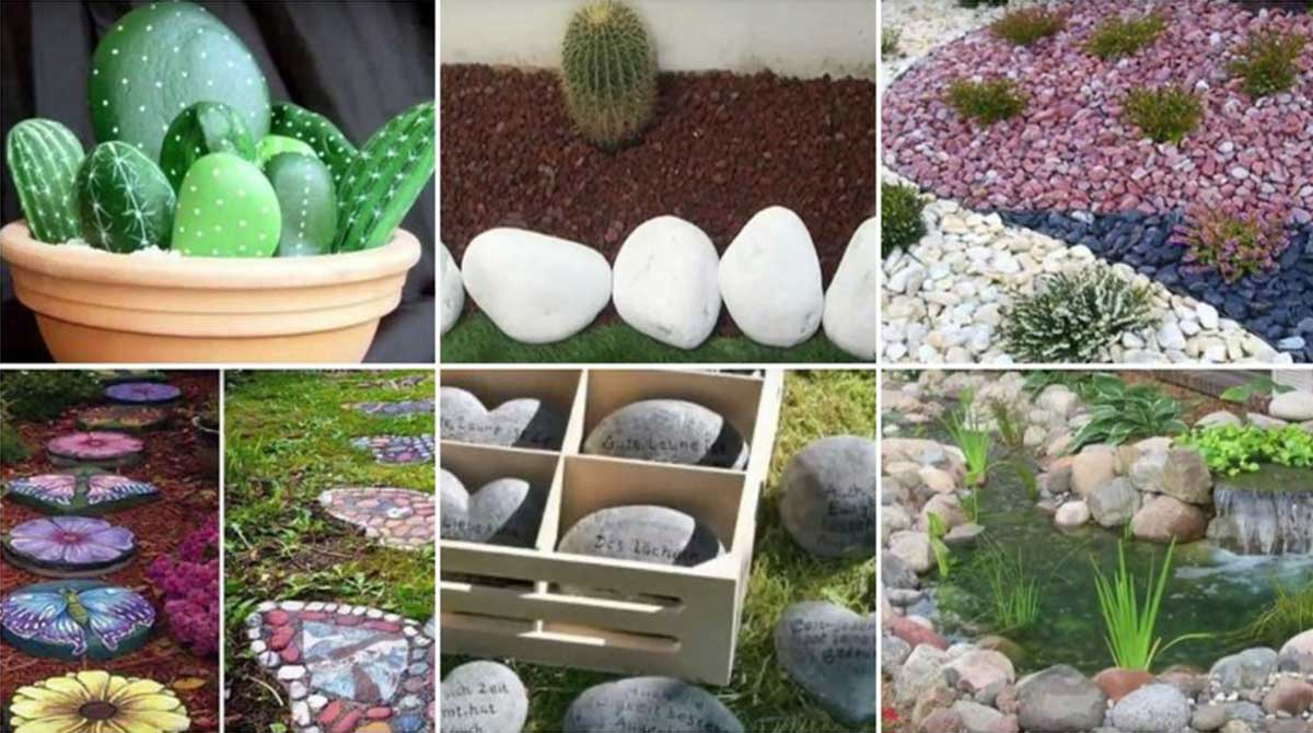 16 hermosas ideas para decorar tu jard n con piedras upsocl for Arboles decorativos para jardin