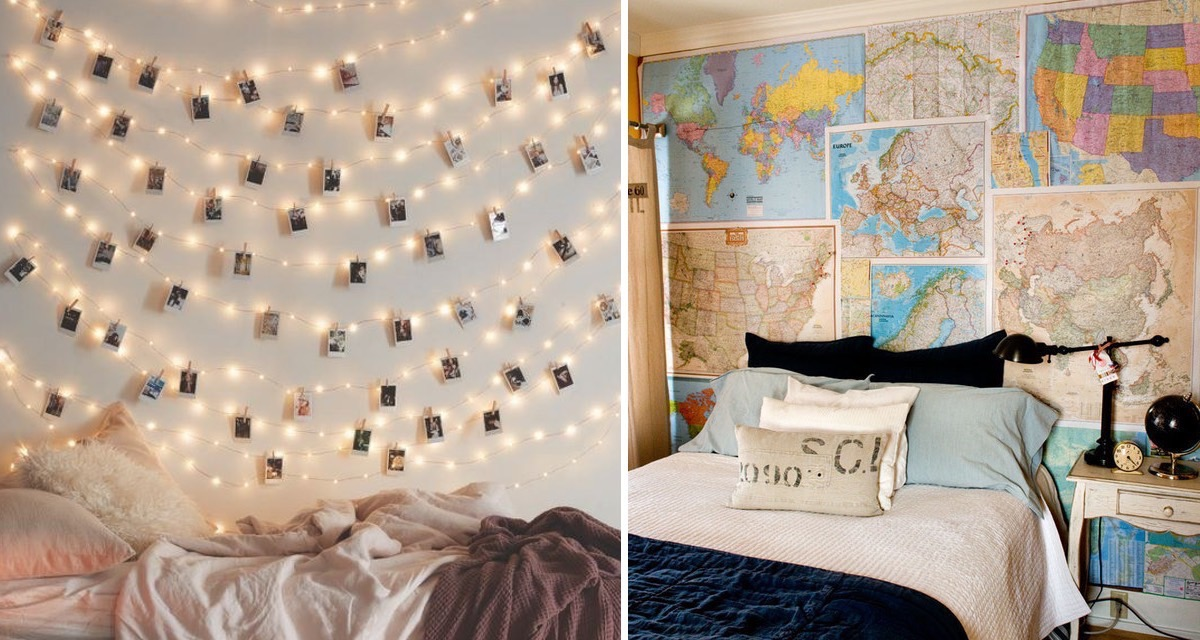 20 ideas para decorar una pared de tu cuarto y darle ese - Como decorar pared con fotos ...