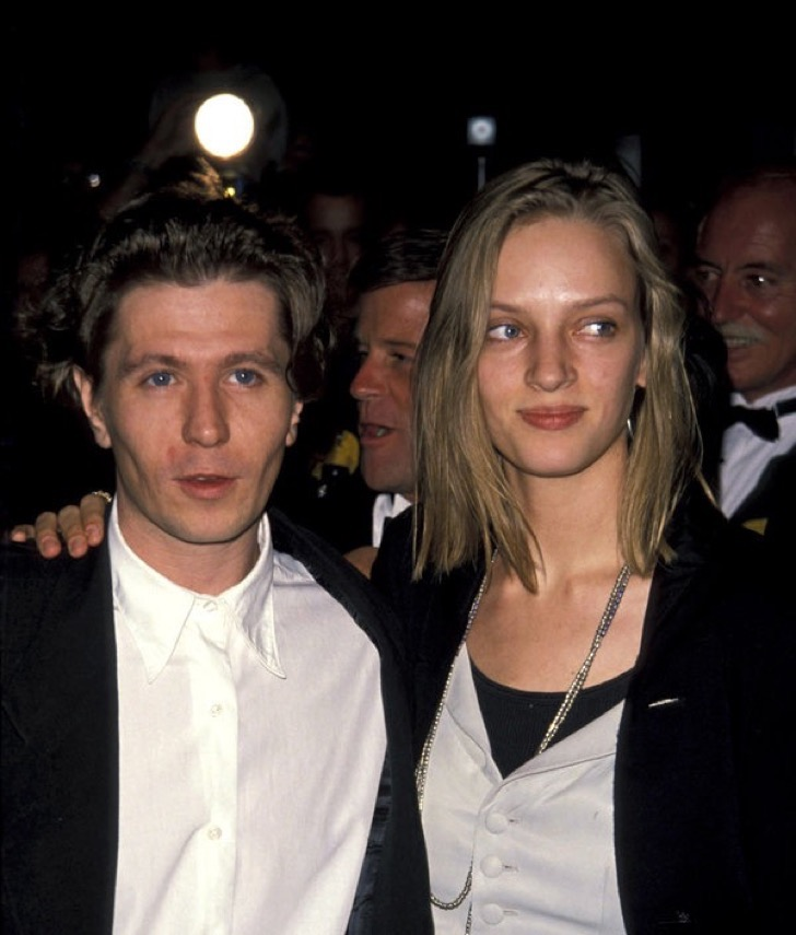 Uma Thurman and Gary Oldman (Photo by Ron Galella / WireImage)