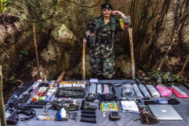 """""""Brenda,"""" is a  31-year-old commander who has been a member of FARC for 15 years. Besides a rifle,  pistol. and laptop for  intelligence missions, in her backpack she also carries nail polish and perfume. Her boyfriend is also a member of  FARC."""