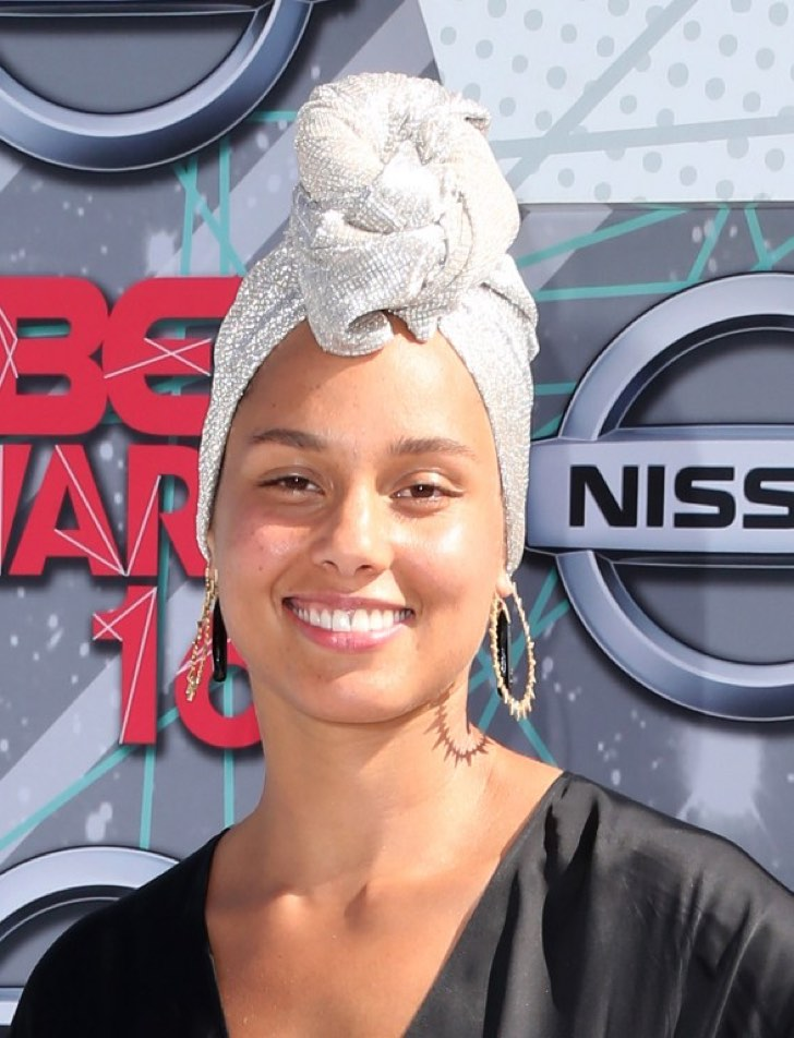 LOS ANGELES, CA - JUNE 26: Recording artst Alicia Keys attend the 2016 BET Awards at the Microsoft Theater on June 26, 2016 in Los Angeles, California. Frederick M. Brown/Getty Images/AFP