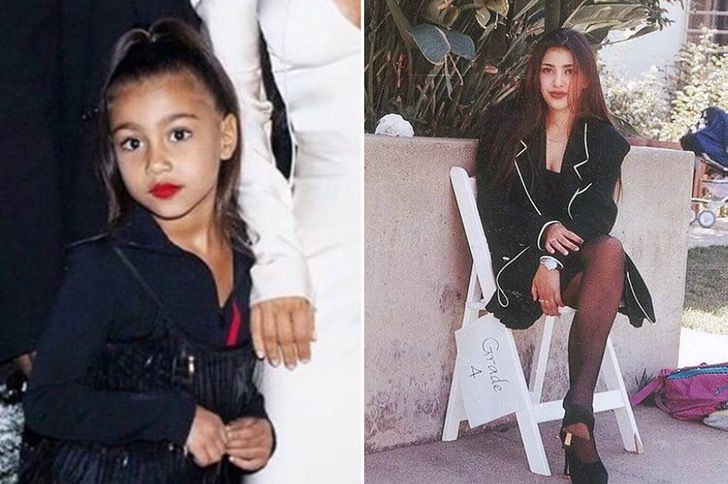 North West y Kim Kardashian