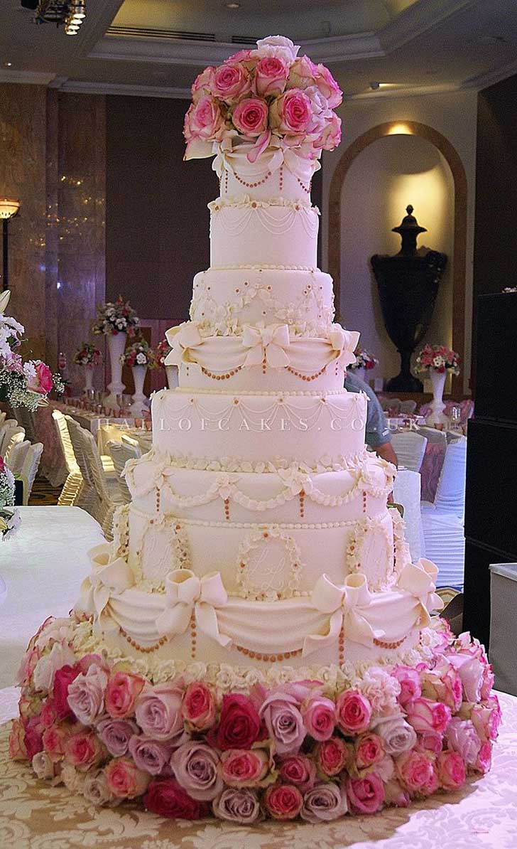 biggest wedding cake in the uk los 20 pasteles de bodas m 225 s impresionantes que se han 11748