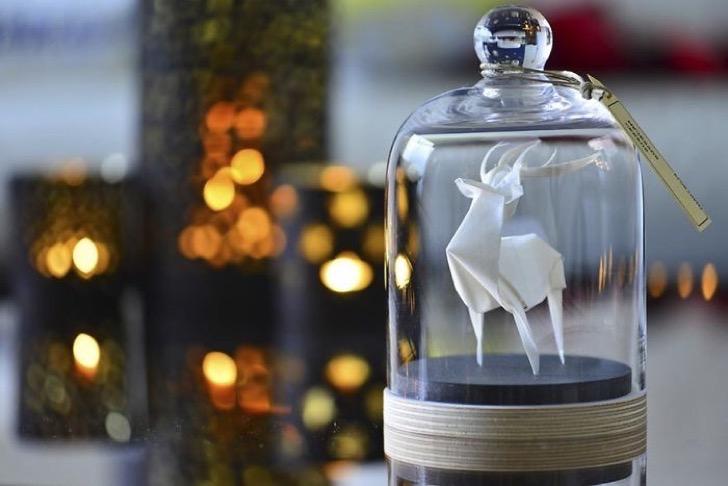Figuras de origami en frascos 4 2 - Magníficas figuras de origami para decorar tu habitación
