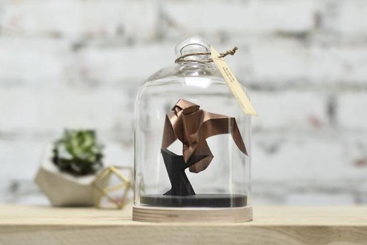 Figuras de origami en frascos 5 2 - Magníficas figuras de origami para decorar tu habitación